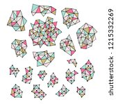 set of hand drawn polygon...   Shutterstock .eps vector #1215332269