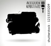 black brush stroke and...   Shutterstock .eps vector #1215335209