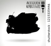 black brush stroke and...   Shutterstock .eps vector #1215335446