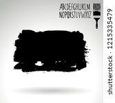 black brush stroke and...   Shutterstock .eps vector #1215335479