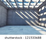 large empty room with concrete... | Shutterstock . vector #121533688