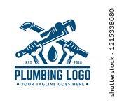 plumbing logo template with... | Shutterstock .eps vector #1215338080