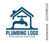plumbing logo template with... | Shutterstock .eps vector #1215338110