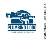 plumbing logo template with... | Shutterstock .eps vector #1215338116