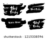 set of black friday text with... | Shutterstock .eps vector #1215338596