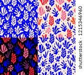matisse inspired shapes... | Shutterstock .eps vector #1215346960