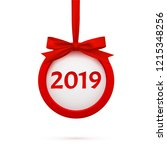 new year 2019 round banner with ... | Shutterstock .eps vector #1215348256