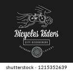 bicycles true riders white on...   Shutterstock .eps vector #1215352639