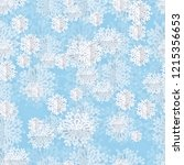 seamless snowflakes background | Shutterstock .eps vector #1215356653