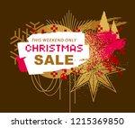 christmas sale banner in... | Shutterstock .eps vector #1215369850