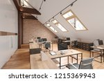 attic office open space with...   Shutterstock . vector #1215369943