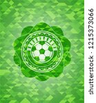 football ball icon inside green ... | Shutterstock .eps vector #1215373066