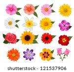 big set of beautiful colorful... | Shutterstock . vector #121537906