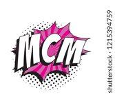 abbreviation mcm  mancrush... | Shutterstock .eps vector #1215394759