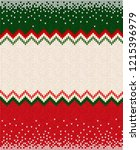 ugly sweater merry christmas... | Shutterstock .eps vector #1215396979