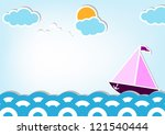 water world   ocean and sea.... | Shutterstock .eps vector #121540444