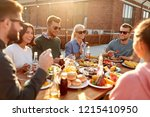 leisure and people concept  ... | Shutterstock . vector #1215410950