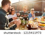leisure and people concept  ... | Shutterstock . vector #1215411973