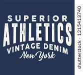 vintage varsity athletic... | Shutterstock .eps vector #1215413740