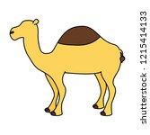 camel animal on white background   Shutterstock .eps vector #1215414133