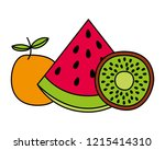 fruits fresh organic | Shutterstock .eps vector #1215414310