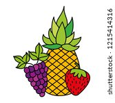 fruits fresh organic | Shutterstock .eps vector #1215414316