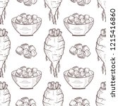 sugar beet. root  sugar  bowl.... | Shutterstock .eps vector #1215416860