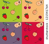 cute pattern | Shutterstock .eps vector #121541764