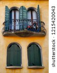 view of house windows in the... | Shutterstock . vector #1215420043