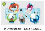 flat design of business people... | Shutterstock .eps vector #1215422089