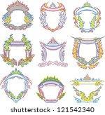 decorative tribal frames of... | Shutterstock .eps vector #121542340