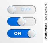 blue switch interface buttons....