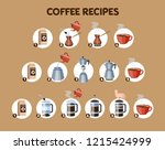 how to make coffee drink... | Shutterstock .eps vector #1215424999