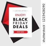 black friday deals. discount... | Shutterstock .eps vector #1215428290