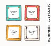 cartoon art styles. decorative... | Shutterstock .eps vector #1215433660