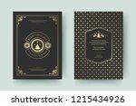 christmas greeting card design... | Shutterstock .eps vector #1215434926