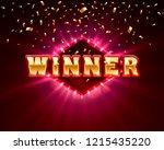 winner frame label  falling... | Shutterstock .eps vector #1215435220