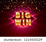 big win casino banner text on... | Shutterstock .eps vector #1215435229