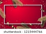 pink christmas and new year... | Shutterstock .eps vector #1215444766