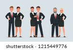 three attractive business... | Shutterstock .eps vector #1215449776