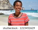 panoramic view of black girl... | Shutterstock . vector #1215452629