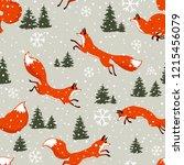 beautiful christmas seamless... | Shutterstock .eps vector #1215456079