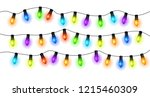 christmas and new year... | Shutterstock .eps vector #1215460309