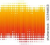 orange dot background | Shutterstock .eps vector #121546813