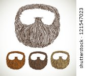 neat beard in color variations | Shutterstock .eps vector #121547023