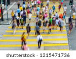 busy pedestrian crossing at... | Shutterstock . vector #1215471736