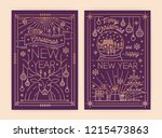 bundle of vertical christmas... | Shutterstock .eps vector #1215473863