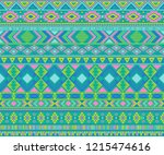 navajo american indian pattern... | Shutterstock .eps vector #1215474616