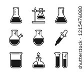 chemical laboratory equipment... | Shutterstock .eps vector #1215476080