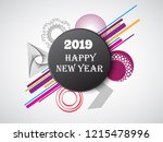 new year's card | Shutterstock .eps vector #1215478996
